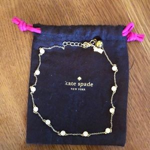 """Kate Spade 18"""" Gold Dot Pave Necklace EUC"""